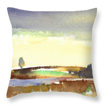 Midday 27 Throw Pillow by Miki De Goodaboom