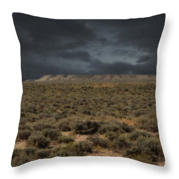 Midnight On The Pairie In Wyoming Throw Pillow