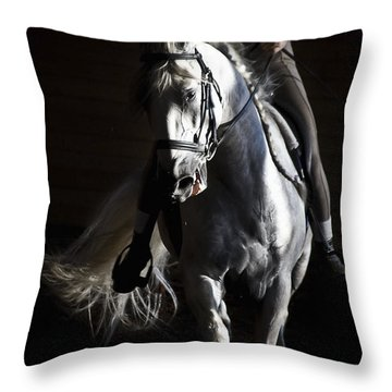 Throw Pillow featuring the photograph Midnight Ride by Wes and Dotty Weber