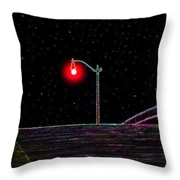 Midnight Run Throw Pillow by David Lee Thompson
