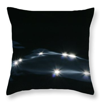 Throw Pillow featuring the photograph Midnight Wave by Cathie Douglas