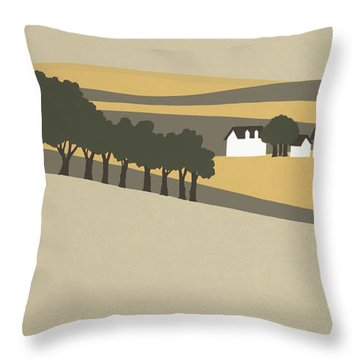 Midwest Landscape Throw Pillow