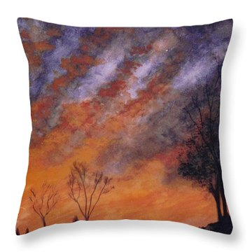 Midwest Sunset Throw Pillow by Stacy C Bottoms