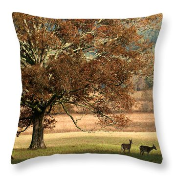 Mighty Oak Throw Pillow