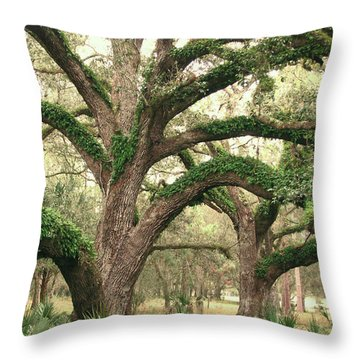 Mighty Oaks Throw Pillow