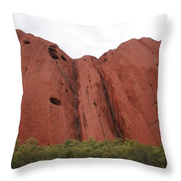 Throw Pillow featuring the photograph Mighty Uluru by Laurel Talabere