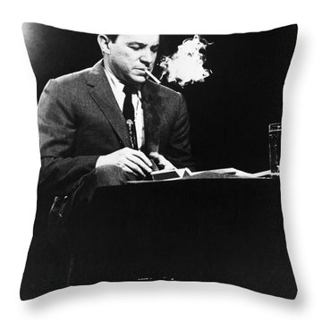 Mike Wallace (1918-2012) Throw Pillow by Granger