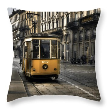 Milan Italy Throw Pillow by Joana Kruse