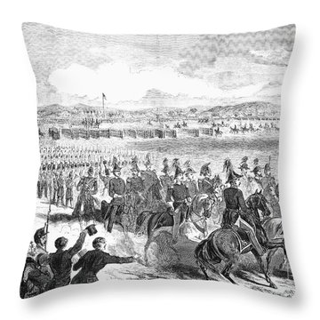 Militia Review, 1859 Throw Pillow by Granger