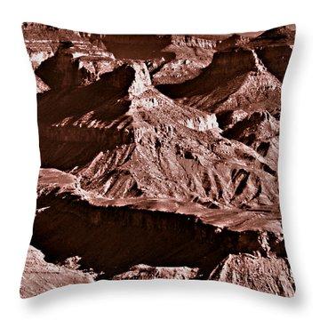 Milk Chocolate Mountains Throw Pillow by Bob and Nadine Johnston