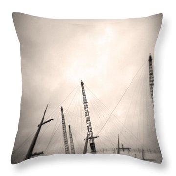 Throw Pillow featuring the photograph Millenium Dome Spires by Lenny Carter