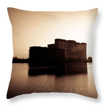 Millenium Mills Warehouse Throw Pillow by Lenny Carter