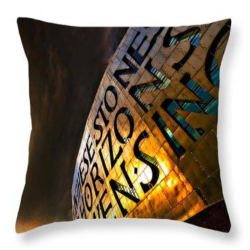 Throw Pillow featuring the photograph Millennium Drama by Meirion Matthias