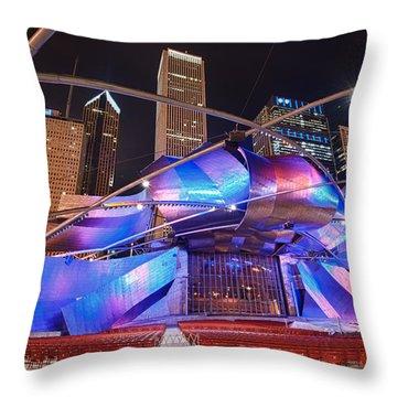 Throw Pillow featuring the photograph Millennium Park by Sebastian Musial