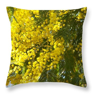 Mimosas Throw Pillow by Sylvie Leandre