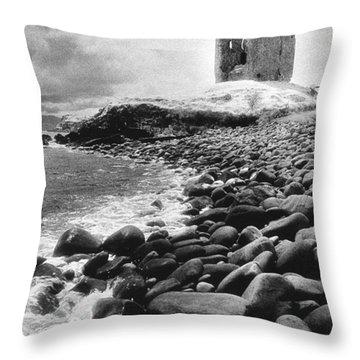 Minard Castle Throw Pillow by Simon Marsden