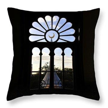Minaret Through Window Throw Pillow by David Lee Thompson