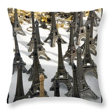 Miniature Eiffel Tower Souvenir. Paris. France Throw Pillow by Bernard Jaubert