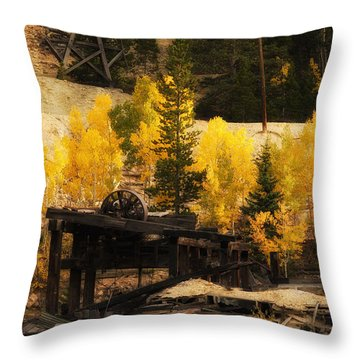 Mining Town Throw Pillow