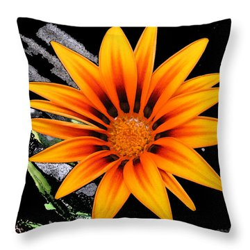 Miracle Of A Flower Throw Pillow