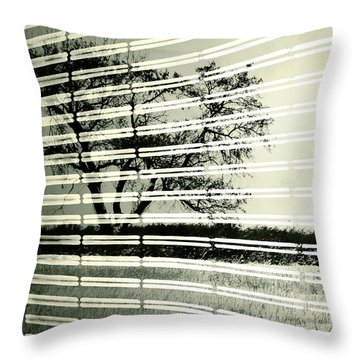 Mirages Wind Throw Pillow by Jerry Cordeiro