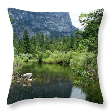 Mirror Lake Throw Pillow by Henrik Lehnerer