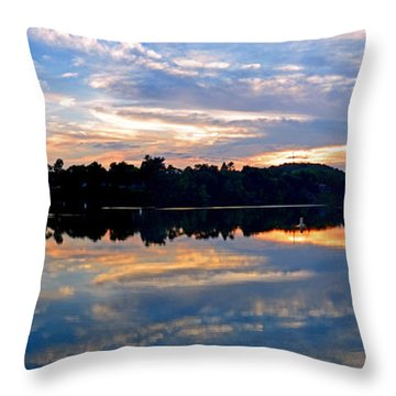 Mirror Mirror On The Water Throw Pillow by Sue Stefanowicz
