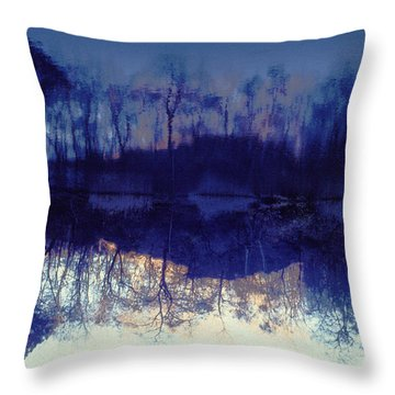 Mirror Pond In The Berkshires Throw Pillow