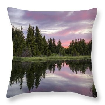 Mirrored Dawn Throw Pillow by Idaho Scenic Images Linda Lantzy
