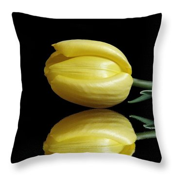 Mirrored Tulip Throw Pillow