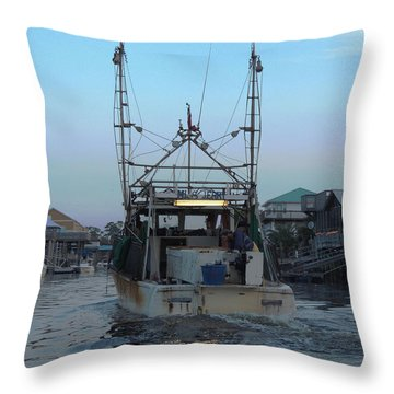 Miss Jerry's Throw Pillow by Marilyn Holkham