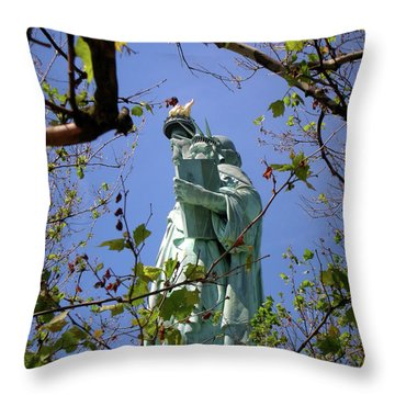 Throw Pillow featuring the photograph Miss Liberty by Paul Mashburn