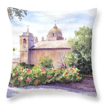 Mission At Carmel Throw Pillow