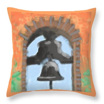 Mission Bell Throw Pillow