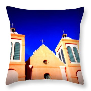 Mission Church Silver City Nm Throw Pillow by Susanne Van Hulst