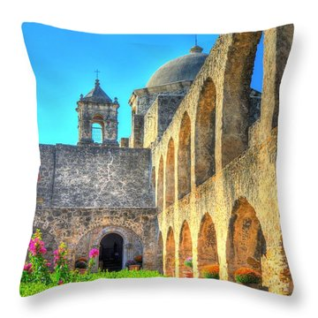 Mission Courtyard Throw Pillow