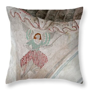Mission San Xavier Del Bac - Painting Detail Throw Pillow by Suzanne Gaff