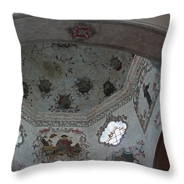 Mission San Xavier Del Bac - Vaulted Ceiling Detail Throw Pillow by Suzanne Gaff