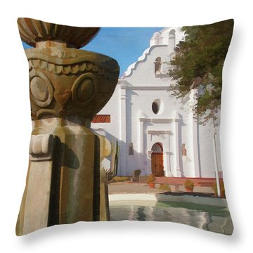 Mission Santa Cruz Throw Pillow