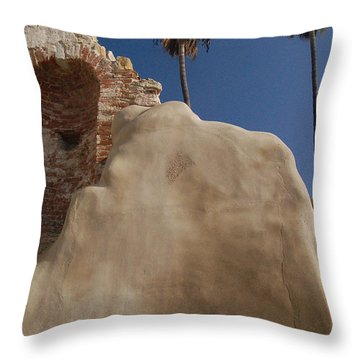 Mission Stone Throw Pillow by Gabe Arroyo