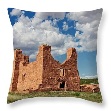 Mission To Quarai New Mexico Throw Pillow by Christine Till