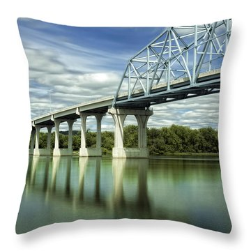 Throw Pillow featuring the photograph Mississippi River At Wabasha Minnesota by Tom Gort