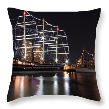 Throw Pillow featuring the photograph Missoula At Nighttime by Alice Gipson