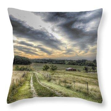 Missouri Dawn Throw Pillow by William Fields