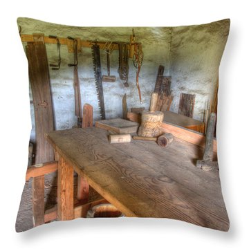 Misssion La Purisima Carpenters Room Throw Pillow by Bob Christopher