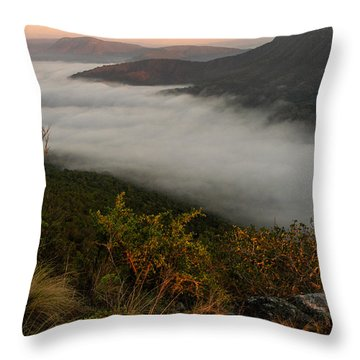 Mistfull Throw Pillow