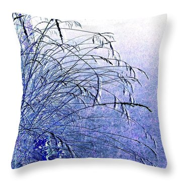 Misty Blue Throw Pillow by Will Borden
