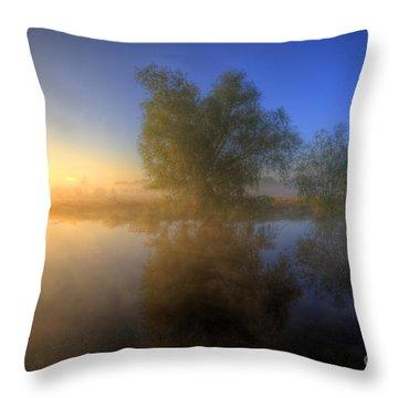 Misty Dawn 1.0 Throw Pillow by Yhun Suarez