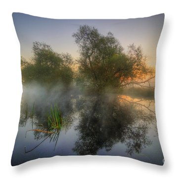 Misty Dawn 2.0 Throw Pillow by Yhun Suarez