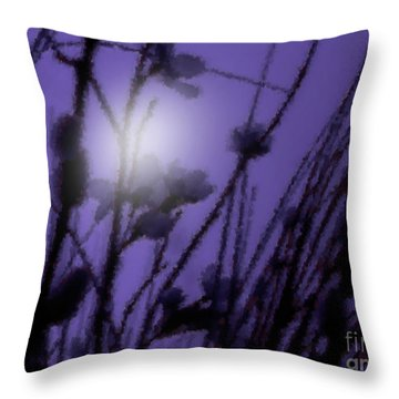 Misty Moonlight Marsh Throw Pillow
